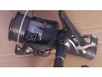 All black carp fishing reel