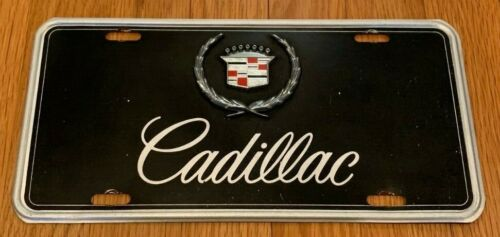 CADILLAC, Tin Dealership License Plate