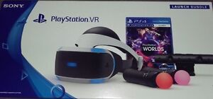 psvr bundle in perfect clean condition +charging stand+game