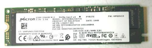 *NEW* MICRON / HP M.2 NVMe Gen3 256GB SSD 2200 MTFDHBA256TCK Laptop 80mm