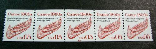 US PNC Stamp Scott# 2454 Canoe P# S11 1991 MNH Stock Picture Shiny H174