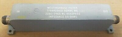 Westinghouse 378a409h01 Rf Microwave Bandpass Filter 2.285-2.465ghz Type-n 033
