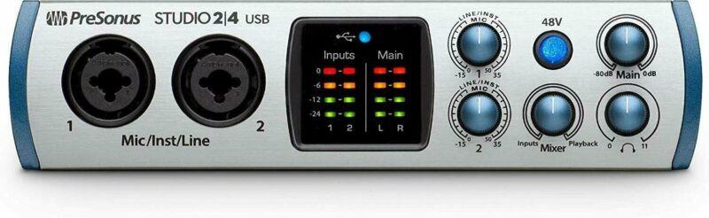 Presonus Audio Interface Studio 2|4 2x2, 192 kHz, USB-C Audio Interface - UC