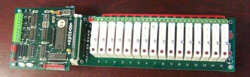 OPTO 22 G4PB16H PROGRAMMABLE LOGIC CONTROLLER W/ B1 BRAIN BOARD & 16) G4 IDC5