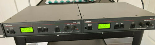 EXTRON VSC-700D SCAN CONVERTER X 2 WITH RACK TRAY AND SDI OUT