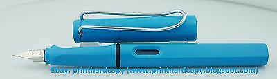 2011 SPECIAL EDITION LAMY SAFARI AQUAMARINE Fountain Pen Rare