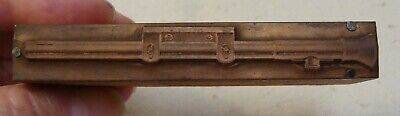 Vintage Gun Scope Printing Letterpress Printers Copper Block Wood