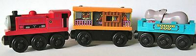 THOMAS THE TANK ENGINE & FRIENDS LC 99169-IVO HUGH WITH ZOO CARS-USED