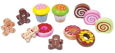 Lelin Wooden Childrens Cake Cupcake Muffin Dessert Tea Time Party Toy