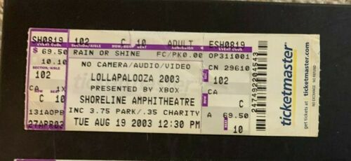Lollapolooza 2003 Concert Ticket Stub 8/19/2003 at the Shoreline Amphitheater