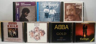 7 used CD lot 70's LIGHT ROCK JIM CROCE ABBA BREAD AIR SUPPLY JOAN ARMATRADING