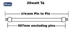 3 x Eterna T4 fluorescent Tubes Choice 6W-10W-16W-20W 3400K under cabinet Lamps