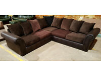 Corner Sofa - Brown. Foam seats