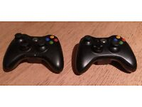 Two X Box 360 controllers (working)