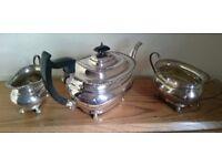 3 Piece silver plated tea service