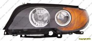 Head Light Driver Side Halogen Coupe/Convertible Amber Turn Signal High Quality BMW 3-Series (E46) 2002-2005