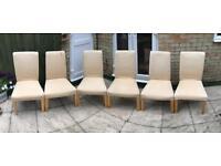 6 x Beige Chairs