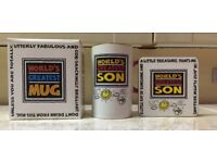 Brand New Boxed 'World's Greatest Son' Mug with Coaster