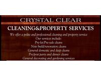 CRYSTAL CLEAR CLEANING AND PROPERTY SERVICES