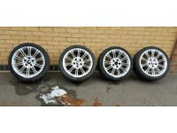 bmw mv 2 rim and tyre set for sale