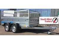 Brand New 8'x4' Twin Axle Trailer with removable mesh sides. 850mm deep inc mesh sides.