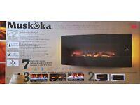 "Muskoka 42"" Curved Wall Mount Electric Fireplace"