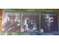 Dishonoured 1 & 2 and definitive edition