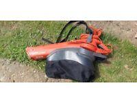 Flymo garden leaf blower / vacuum collector