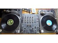 • Technics 1210 MK2 professional DJ Decks with monitor speakers, mixer and records!