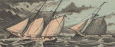 1880S Providence Ri Yacht Service  Trade Card  Fishing  Sailing  Free Ship Tc25