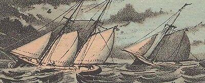 1880S Providence Ri Yacht Service  Trade Card  Fishing  Sailing   On Sale  Tc25