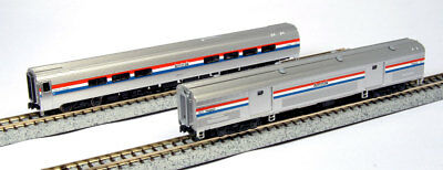 Kato N 106-6292 Amtrak Amfleet II Phase III Coach-Cafe/Baggage 2 Car Set B New! ()