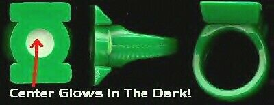 Vintage Promo GREEN LANTERN Plastic GLOW IN THE DARK RING ~ DC Comics