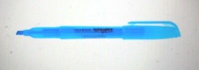 School Smart Non-toxic Pen Style Highlighter Chisel Tip Blue Pack Of 12