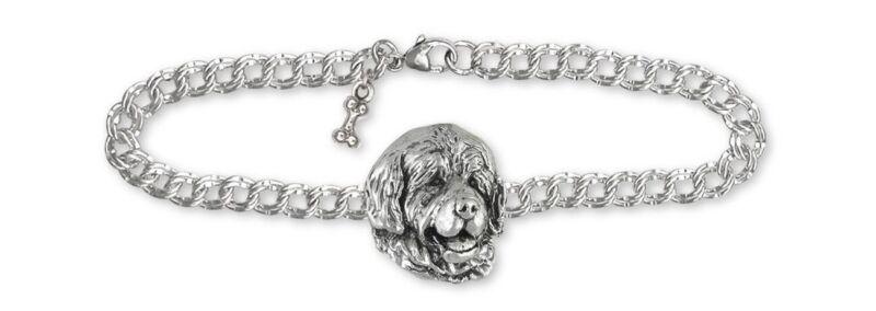 Newfoundland Bracelet Jewelry Sterling Silver Handmade Dog Bracelet NU3-B