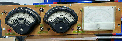 Vintage Weston Milliameter Ammeter Volt Meter Combo