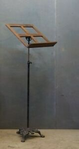 Antique Cast Iron Industrial Music Stand Circa 1906