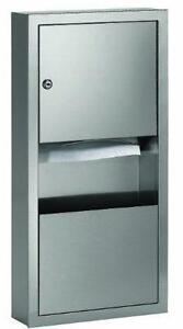 Standard Stainless Steel Surface Mounted Towel Dispenser/Waste R