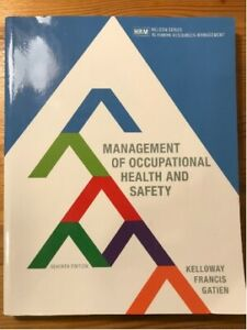 Management of occupational health and safety 6th & 7th edition