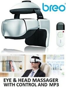 NEW BREO IDREAM3 EYE AND HEAD MASSAGER WITH CONTROL AND MP3 PLAY