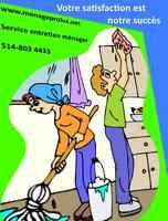 couple d'entretien ménager régulier et grand ménage