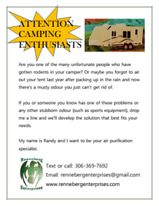 Attention Camping Enthusiasts