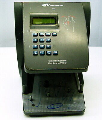 Ingersoll Rand Handpunch 1000-e Biometric Hand Recognition Time Clock Hp-1000