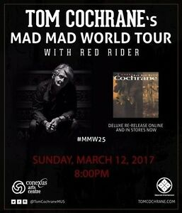 Tom Cochrane & Red Rider @ Conexus Arts Centre - March 12 @ 8 pm