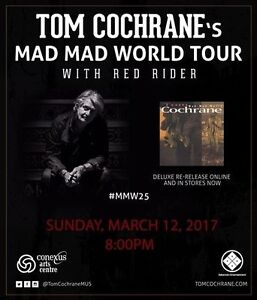 Tom Cochrane & Red Rider @ Conexus Arts Centre March 12, 8 pm