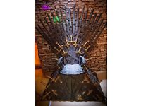 Selling home made game of thrones' throne and fabric panel