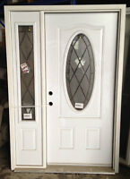 Gothic Entrance Door w/ Sidelight