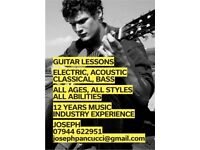 Guitar and Bass tutor available