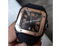 Cartier Watch (rubber strap) for Men