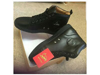 Men's New Black Leather Christian Louboutin